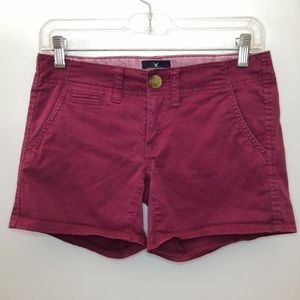 American Eagle Wine Shortie Chino Shorts
